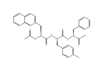 Structure of N-Acetyl-3-(2-naphthyl)-D-alanyl-4-chloro-D-phenylalanyl-3-(3-pyridyl)-D-alanyl CAS PNA-2730
