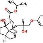 Structure of Cloprostenol isopropyl ester CAS 157283-66-4