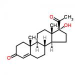 Structure of Hydroxyprogesterone CAS 68-96-2