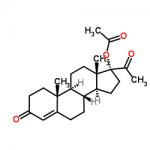Structure of Hydroxyprogesteroneacetate CAS 302-23-8