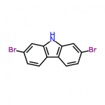 Structure of 2,7-DIBROMO-9H-CARBAZOLE CAS 136630-39-2