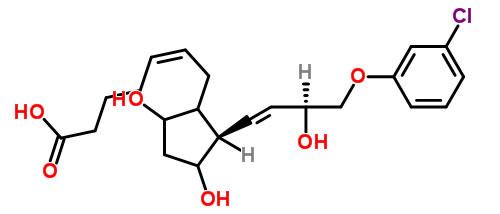 Structure of 15S-Cloprostenol CAS 54276-22-1