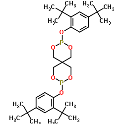 Structure of Bis(2,4-di-tert-butylphenyl) pentaerythritol Diphosphite CAS 26741-53-7