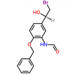 Structure of (R)-N-(2-(Benzyloxy)-5-(2-bromo-1-hydroxyethyl)phenyl)formamide CAS 201677-59-0
