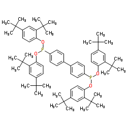 Structure of Tetrakis(2,4-di-tert-butylphenyl)-4,4'-biphenyldiphosphonite CAS 119345-01-6