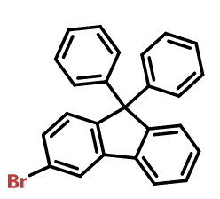 Structure of 3-BroMo-9,9-diphenyl-9H-fluorene CAS 1547491-70-2