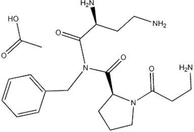 Structure of (2S)-beta-Alanyl-L-prolyl-2,4-diamino-N-(phenylmethyl)butanamide acetate CAS 823202-99-9