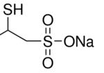 Structure of Sodium 2,3-dimercapto-1-propanesulfonate CAS 4076-02-2