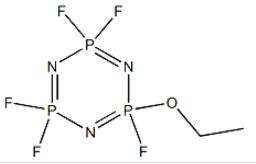 Structure of 2-Ethoxy-2,4,4,6,6-pentafluoro-1,3,5,2,4,6-triazatriphosphorine CAS 33027-66-6
