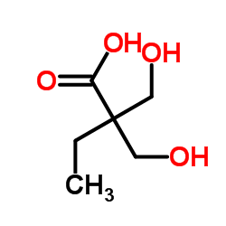 Structure of 2,2'-Bis(hydroxymethyl)butyric acid(DMBA) CAS 10097-02-6