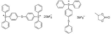 Structure of Mixed type triarylsulfonium hexafluoroantimonate salts CAS 71449-78-089452-37-9108-32-7