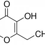 Structure of Ethyl maltol CAS 4940-11-8