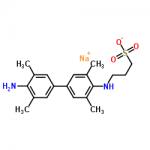 Structure of N-(3-Sulfopropyl)-3,3',5,5'-tetramethylbenzidine sodium salt CAS 102062-36-2