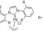 Structure of Allyl[1,3-bis(2,6-diisopropylphenyl)imidazol-2-ylidene]chloropalladium(II) CAS 478980-03-9
