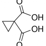Structure of 1,1-Cyclopropanedicarboxylic acid CAS 598-10-7