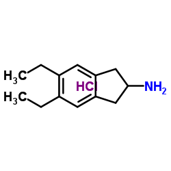 Structure of 5,6-Diethyl-2,3-dihydro-1H-inden-2-amine hydrochloride CAS 312753-53-0