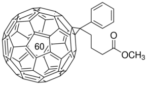 Structure of Methyl [6,6]-phenyl-C61-butyrate CAS 160848-22-6