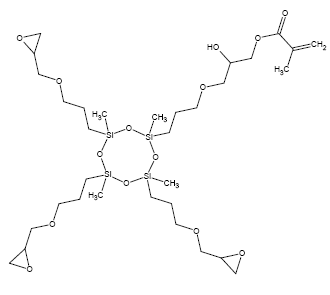 Structure of Methacryl trisepoxy cyclosiloxane CAS 921214-21-3