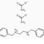 Structure of N,N-Dibenzylethylenediamine diacetate CAS 122-75-8