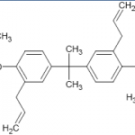 Structure of Phenyl ester epoxy curative hybrid of diallyl bisphenol A CAS 107466-61-9