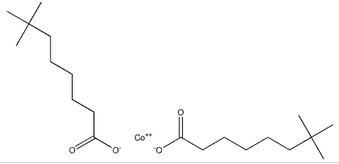 Structure of Cobalt(II) neocaprate CAS 10139-54-5
