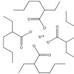 Structure of Titanium Octoate CAS 3645-34-9