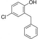 Sreucture of Ortho Benzyl Para Chloro Phenol CAS 120-32-1