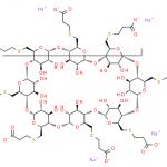 Structure of Sugammadex sodium CAS 343306-79-6