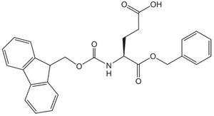 Structure of FMOC-GLU-OBZL CAS 122350-52-1