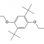 Structure of 1,4-Bis(2-methyl-2-propanyl)-2,5-bis(2,2,2-trifluorethoxy)benzol CAS 1147737-68-5