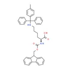 Structure of Fmoc-N'-methyltrityl-L-lysine CAS 167393-62-6