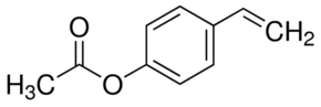 Structure of 4-Ethenylphenol acetate CAS 2628-16-2