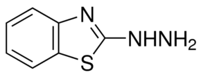 Structure of Benzothiazol-2-ylhydrazine CAS 615-21-4