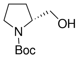 Structure of Boc-D-prolinol CAS 83435-58-9
