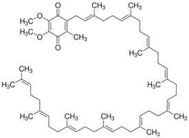Structure of Coenzyme Q10 CAS 303-98-