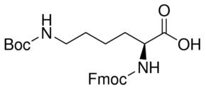 Structure of Fmoc-Lys(Boc)-OH CAS 71989-26-9