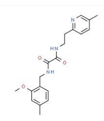 Structure of N1-2-methoxy-4-methylbenzyl-N2-5-methylpyridin-2-ylethyloxalamide CAS 745047-94-3
