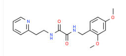Structure of N1-2,4-dimethoxybenzyl-N2-2-pyridin-2-ylethyloxalamide CAS 745047-53-4