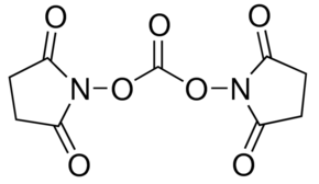 Structure of N,N'-Disuccinimidyl carbonate CAS 74124-79-1