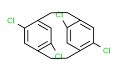 Structure of Tetrachloro[2.2]paracyclophane CAS 30501-29-2
