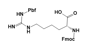 Structure of Fmoc-D-HomoArg(Pbf)-OH CAS AANA-0122