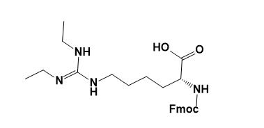 Structure of Fmoc-D-Homoarg(Et)2-OH(·HCl) CAS AANA-0123