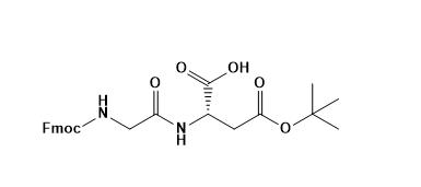 Structure of Fmoc-Gly-Asp(OtBu)-OH CAS PNA-2726