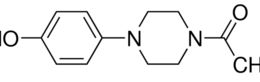 Structure of 4-(1-Acetylpiperazin-4-yl)phenol CAS 67914-60-7