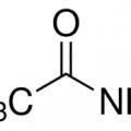 Structure of Acetamide CAS 60-35-5