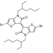 Structure of (E)-2,2'-dibromo-4,4'-bis(2-ethylhexyl)-[6,6'-bithieno[3,2-b]pyrrolylidene]-5,5'(4H,4H')-dione CAS 1147124-49-9