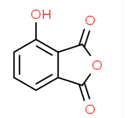 Structure of 3-HYDROXYPHTHALIC ANHYDRIDE CAS 37418-88-5