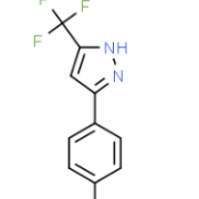 Structure of 3-(TRIFLUOROMETHYL)-5-P-TOLYL-1H-PYRAZOLE CAS 26974-15-2