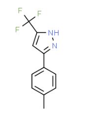 Structure of 3-(TRIFLUOROMETHYL)-5-P-TOLYL-1H-PYRAZOLE CAS 26974-15-2
