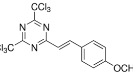 Structure of 2-(4-Methoxystyryl)-4,6-bis(trichloromethyl)-1,3,5-triazine CAS 42573-57-9